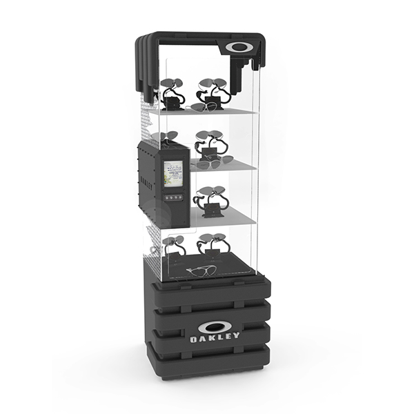 Merchandise Rotatable Display Rack with Customization for Glass or Watches.