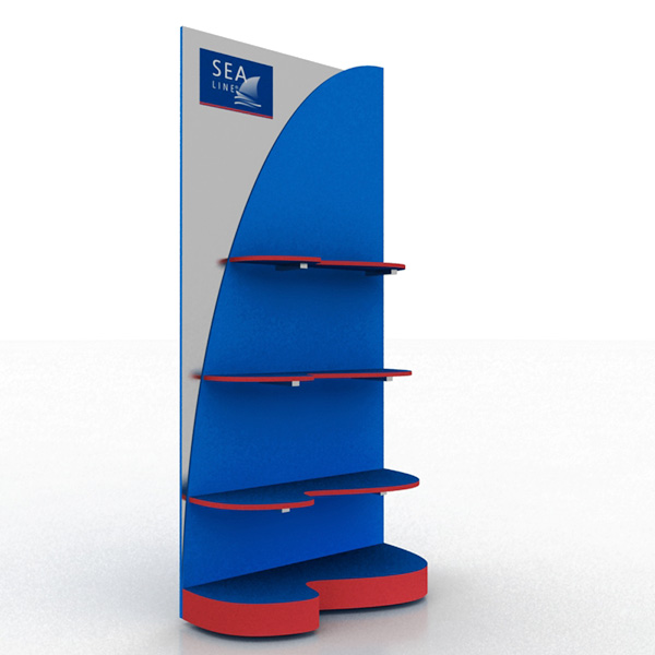 Merchandise MDF Floor Display Rack with Customization