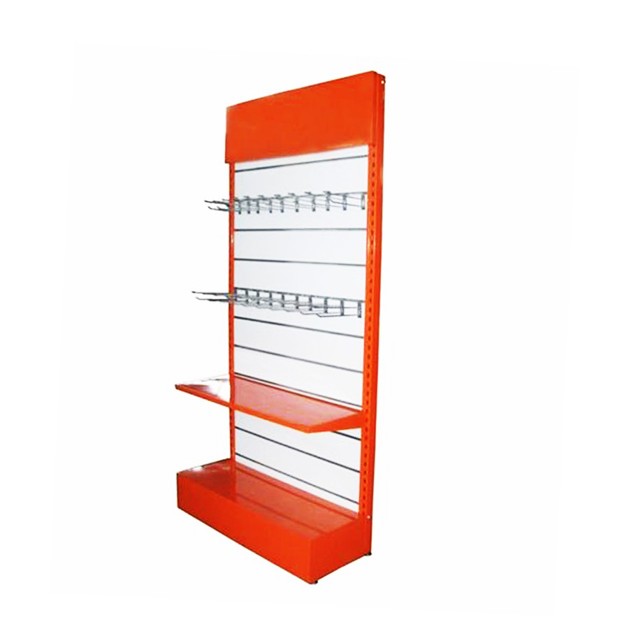 High end Perforated Panel Metal Shelf Hardware display rack , Gondola Shelf for store and supermarket